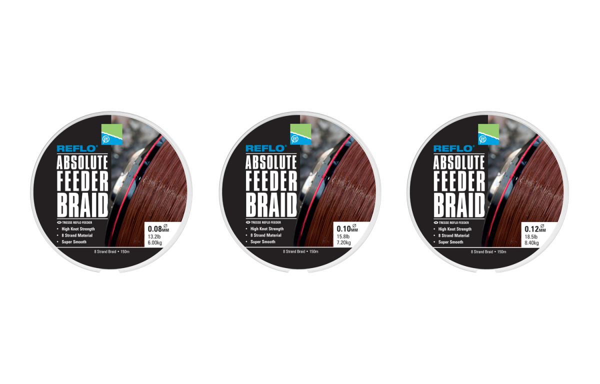 Preston Absolute Feeder braid 150 m 0,10mm