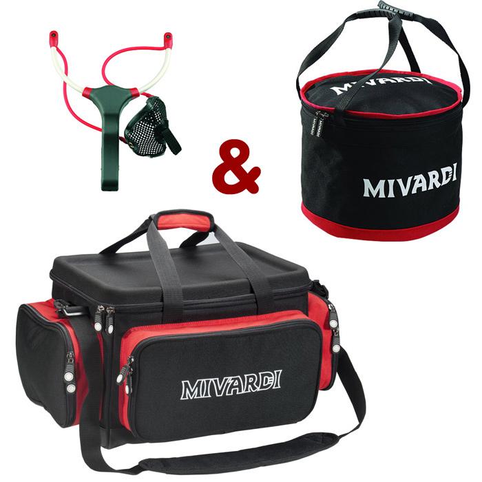 Mivardi Set taška Team Mivardi Compact + Groundbait mixing bag L + Prak M