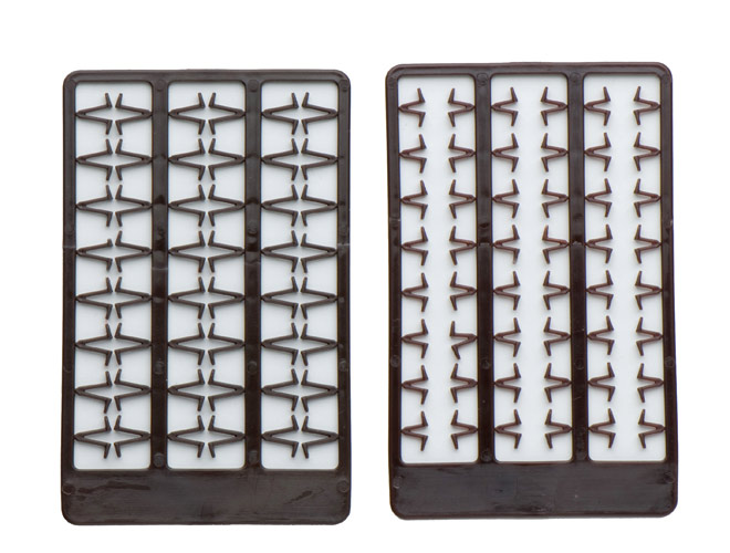 Mivardi Boilie stoppers V medium (brown) 48pcs rack