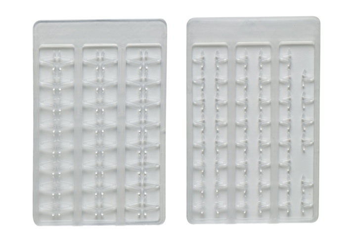 Mivardi Boilie stoppers V medium (clear) 48pcs rack