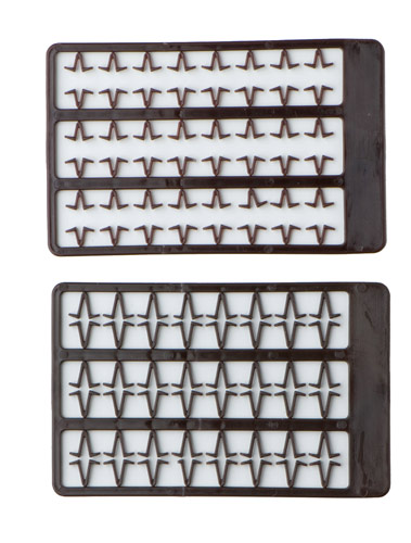 Mivardi Boilie stoppers V small (brown) 48pcs rack